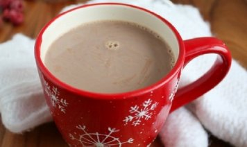 Hot Chocolate in a red mug